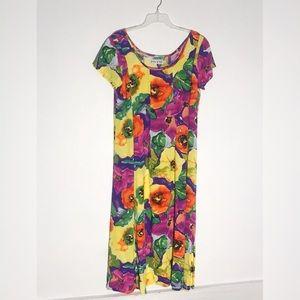 Jams World Vintage Floral Print Dress Large